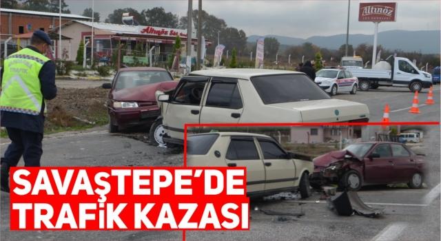 SAVAŞTEPE' DE TRAFİK KAZASI