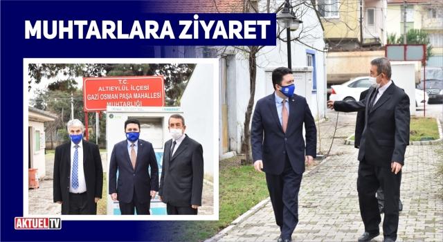 BAŞKAN AVCIDAN MUHTARLARA ZİYARET