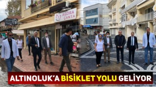 ALTINOLUK'A BİSİKLET YOLU GELİYOR