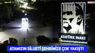Atatürk Silueti Park Girişine konuldu