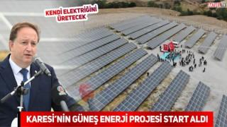 Karesi Güneş Enerji Santrali açılışı yapıldı